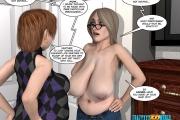 3D comic: Fat lesbian action 1